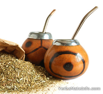 Yerba mate, gourds and bombillas